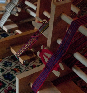 three inkle looms